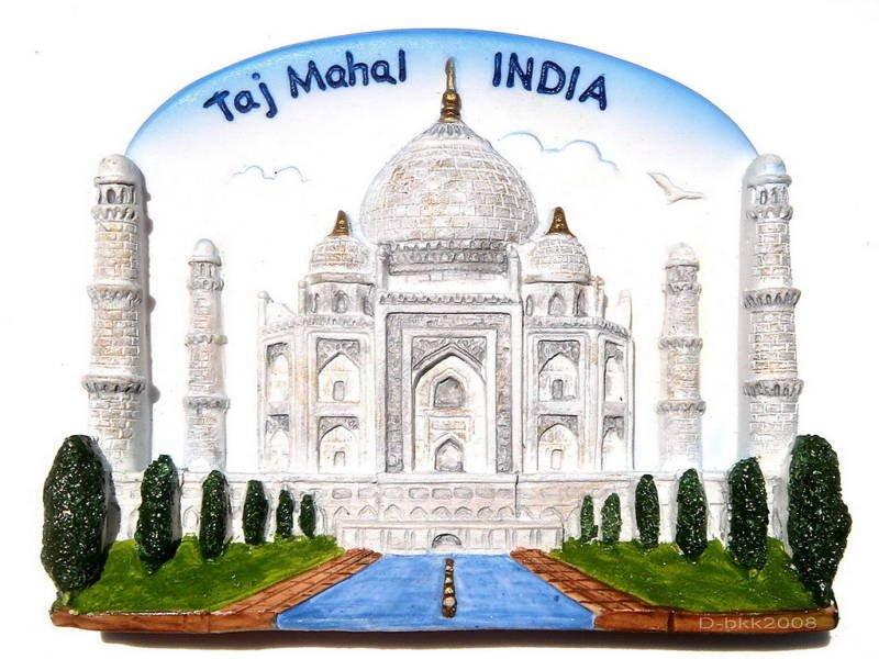 Souvenir Taj Mahal, INDIA, High Quality Resin 3D Fridge Magnet