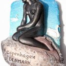 Souvenir Little Mermaid, COPENHAGEN Denmark, High Quality Resin 3D Fridge Magnet