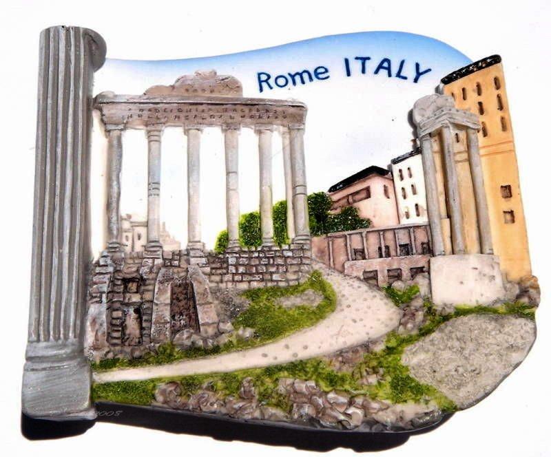 Souvenir Roman Forum, ROME Italy, High Quality Resin 3D Fridge Magnet