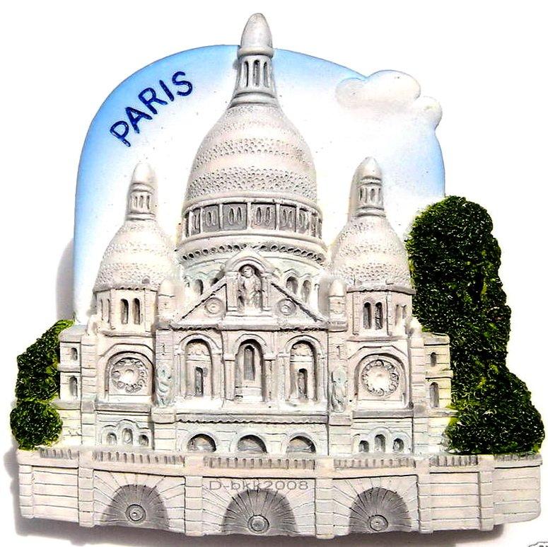 Souvenir Sacre Coeur, PARIS France, High Quality Resin 3D Fridge Magnet