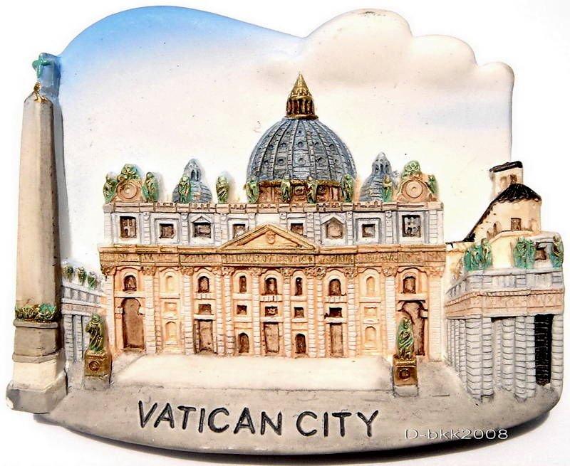 Souvenir St. Peter's Basilica, VATICAN CITY Italy, High Quality Resin 3D Fridge Magnet
