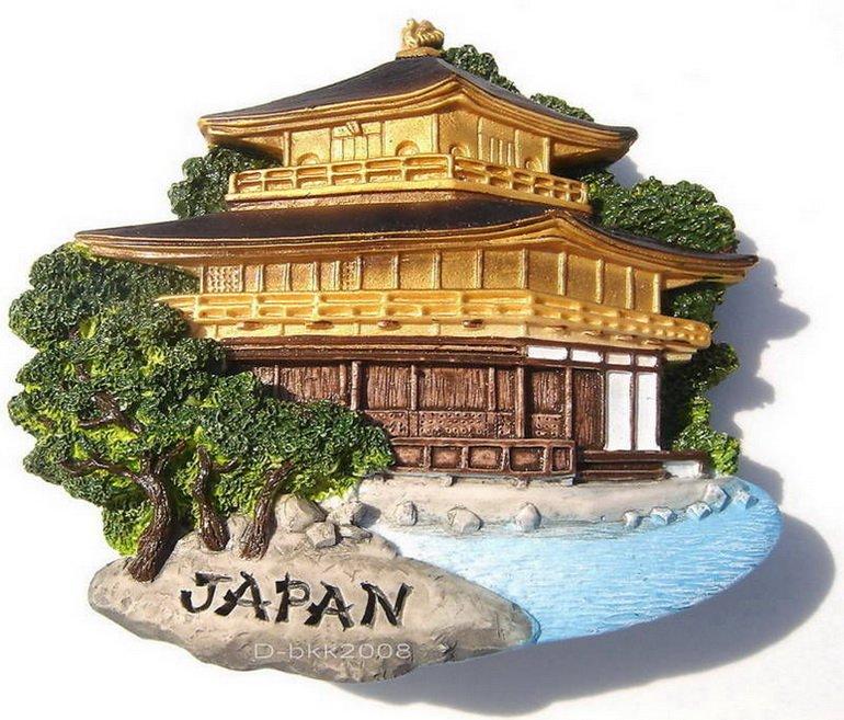 Resin Fridge Magnet: Japan - Kyoto. Kinkaku-ji (the Golden Pavilion)
