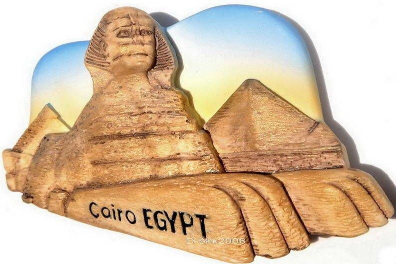 Souvenir Great Sphinx, CAIRO Egypt , High Quality Resin 3D Fridge Magnet