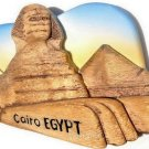 Souvenir Great Sphinx, CAIRO Egypt , High Quality Resin 3D Fridge Magnet