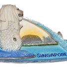 Souvenir Merlion, SINGAPORE, High Quality Resin 3D Fridge Magnet