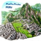 Souvenir Machu Picchu, PERU, High Quality Resin 3D Fridge Magnet