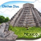 Souvenir Chichen Itza, MEXICO , High Quality Resin 3D Fridge Magnet