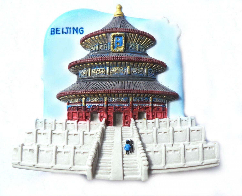 Souvenir Temple of Heaven, CHINA, High Quality Resin 3D Fridge Magnet