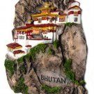 Souvenir Tiger's Nest Monastery, BHUTAN, High Quality Resin 3D Fridge Magnet
