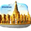 Souvenir Shwedagon Pagoda, MYANMAR, High Quality Resin 3D Fridge Magnet