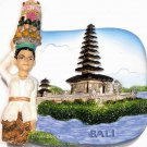 Souvenir Pura Ulun Danau Temple, BALI, Indonesia, High Quality Resin 3D Fridge Magnet