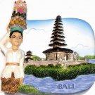 Souvenir Pura Ulun Danau Temple, BALI, Indonesia, High Quality Resin 3D Fridge Magnet