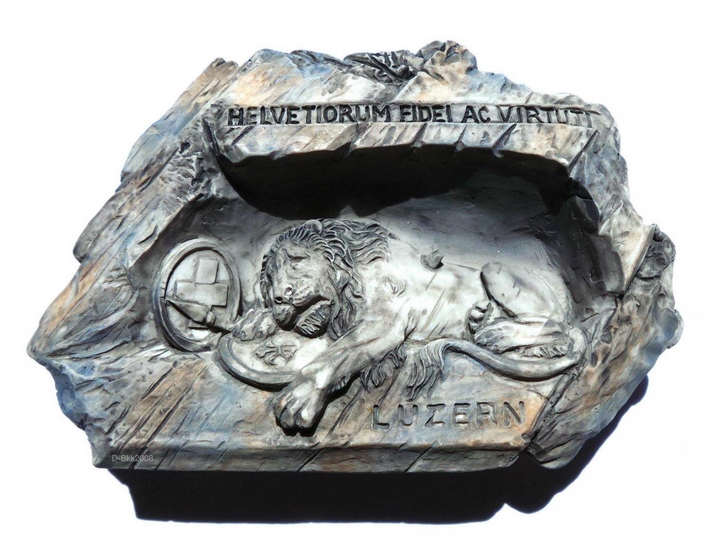 Souvenir The Lion Monument, SWITZERLAND, High Quality Resin 3D Fridge Magnet