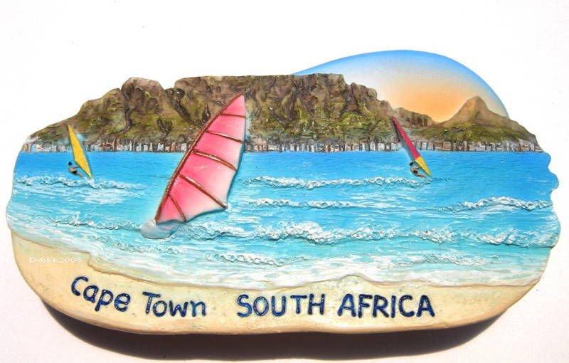 Souvenir Table Mountain, Cape Town,  SOUTH AFRICA , High Quality Resin 3D Fridge Magnet