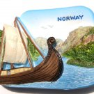 Souvenir Viking Ship, NORWAY, High Quality Resin 3D Fridge Magnet