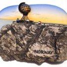Souvenir Midnight Sun, North Cape, NORWAY, High Quality Resin 3D Fridge Magnet