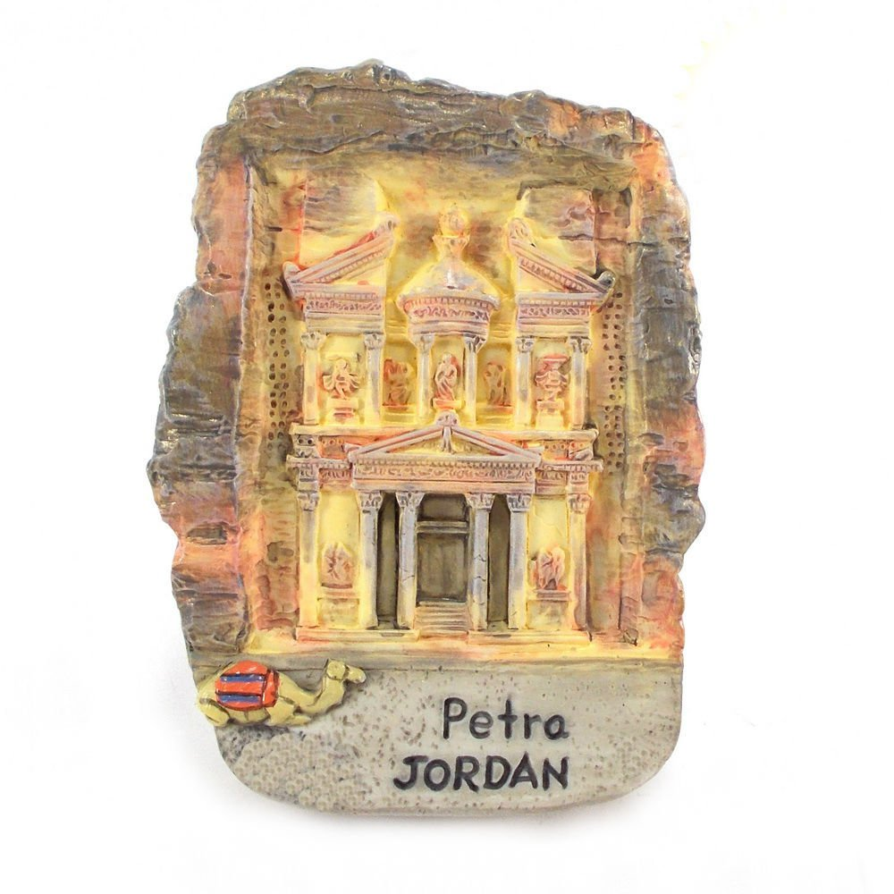 Souvenir Petra, JORDAN , High Quality Resin 3D Fridge Magnet