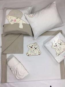 100%Cotton Jersey 4-Piece Baby Crib Bedding, Quilt Set-WARM FAMILY