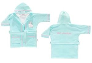 Cotton Hooded Embroidered Toddler Bathrobe-DOLLY MINT