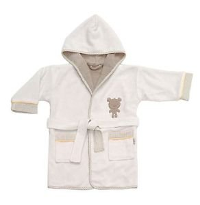 Cotton Hooded Embroidered Toddler Bathrobe-LITTLE BEAR