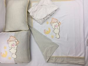 100% Cotton Jersey 4-Piece Baby Crib Bedding, Quilt Set-LITTLE BEAR
