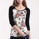 Floral Graphic Print Long Sleeve Top Price