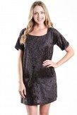 Black Velvet Short Sleeve Dress - MYBELOVED