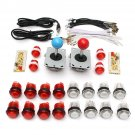 DIY Parts USB Encoder Joystick Clear Buttons Kit for Acarde Game Controller Cons