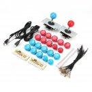 Blue Red Arcade Game DIY Kits Push Buttons Joysticks USB Encoder Board