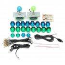 20 DIY LED Arcade Buttons Two Joysticks Two USB Encoder Kit Game Parts Set Blue