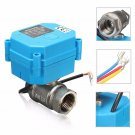 1/2Inch NPT Electric Motorized Ball Valve Stainless Steel DC24V DN15 2-Way 3-Wir