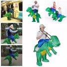 Children Inflatable Dinosaur T-REX Fancy Dress Unisex Costume Dino Rider