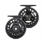 Aluminum Fly Fishing Reel Left and Right Hand 3/4wt Adjustable Drag Black