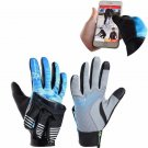 ROCKBROS Winter Waterproof Full Finger Touch Scree Cycling Gloves with Rain Cove