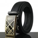 125-130CM Fashion Mens Business Genuine Leather Belt Casual Durable Automatic Bu