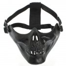 Adjustable Half Face Skeleton Skull Protect Mask for Motorcycle Ski