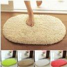 40x60cm Lint Plush Non Slip Absorbent Bathroom Mat Oval Kitchen Carpet Rug