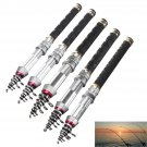 1.3-2.4m Mini Superhard Carbon Telescopic Fishing Rod Ultra Light Spinning Fishi