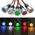 19mm 12V LED Panel Pilot Dash Light Indicator Warning light Car Boat Signal Lamp
