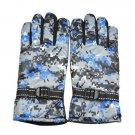 Full Finger Cycling Motorcycle Gloves Mountain Bike Camouflage Navy Men Free Siz