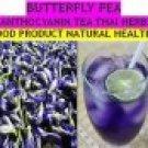 THAI DRIED HERB BUTTERFLY PEA (ANCHAN)FLOWER HEALTHY TEA DRINK BLLID HEALTH EYE