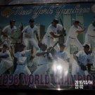 NEW YORK YANKEES 1996 WORLD CHAMPIONS GLASS PHOTO IN FRAME WORLD TRADE CENTER