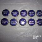 VINTAGE UNUSED LOT OF 10 CREAM SODA CORK LINED CAPS