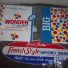 VINTAGE SET OF TWO BREAD WRAPPERS WONDERBREAD JANE PARKER