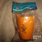 VINTAGE ROMPER ROOM ONE PIECE PLASTIC TUMBLER AND STRAW DO BEE
