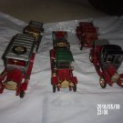 VINTAGE LOT OF SIX NACORAL ZARAGOZA TOY CARS MADE IN SPAIN FOR PARTS