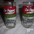 VINTAGE SET OF TWO 1978 DR. PEPPER KING OF BEVERAGES GLASSES