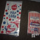 VINTAGE SET OF TWO CIRCUS FOOD BAGS POPCORN PEANUTS RINGLING BROS