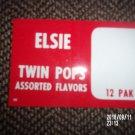 BORDEN ELSIE RED SUPERMARKET / STORE DISPLAY SIGN - TWIN POPS 12 PAK