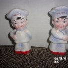VINTAGE SET OF TWO TAPPAN CHEF SALT AND PEPPER SHAKERS MADE IN JAPAN